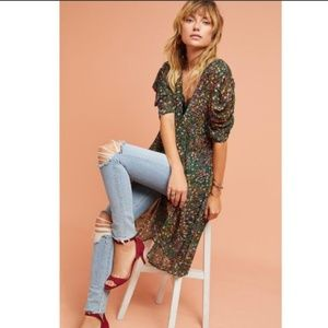 Anthro Akemi + Kin Floral Valencia Sheer Dress S
